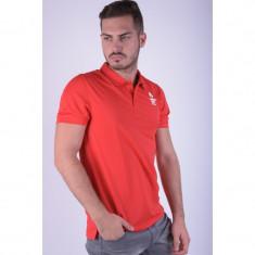 Tricou Polo Jack&Jones M-g Tricou Polo Chinese Red - Tricou barbati, Marime: L, Culoare: Rosu