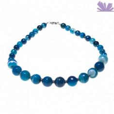 Colier Arianna Agat Albastru - Colier perle