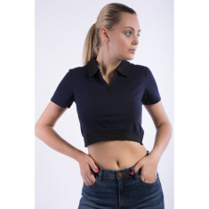 Tricou Polo Only Onltennis Ss Cropped Top Night Sky - Tricou dama Only, Marime: S, Culoare: Bleumarin