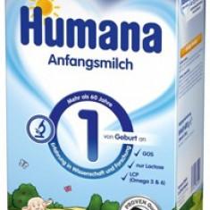 Lapte praf Humana 1 cu nucleotide, in completarea laptelui matern, de la nastere, 600g - Lapte praf bebelusi