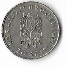 Moneda 20 sen 1996 - Brunei, Africa