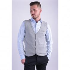 Vesta Outfitters Nation Jason M Knit Waistcoat Medium Grey Melange