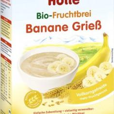 Cereale bebelusi Holle Bio banane si grau integral, fara lapte, de la 6 luni - Cereale copii