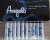 Filtre pentru pipa ANGELO 9mm - CARBON ACTIV