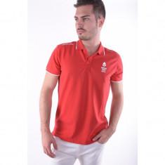 Tricou Polo Jack&Jones Ol M-d Tricou Polo Chinese Red - Tricou barbati, Marime: L, Culoare: Rosu