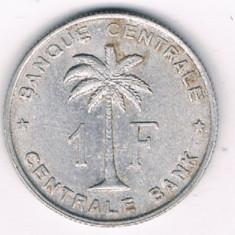 Moneda 1 franc 1959 - Congo Belgian, Africa