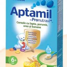 Cereale Aptamil cu lapte, porumb, orez, banane, de la 6 luni - Cereale copii