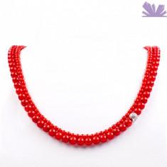 Colier Anastasia Coral - Colier perle