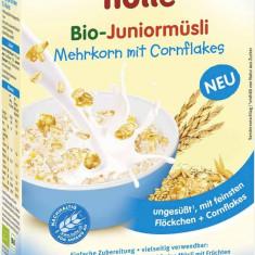 Cereale bebelusi Holle Bio musli multicereale cu fulgi porumb, dupa 10 luni - Cereale copii