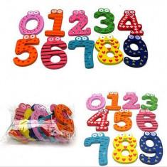 Numere 0-9 din Lemn / Magnetice / Cadou Copii / Invatare Numere - Jocuri Litere si Cifre