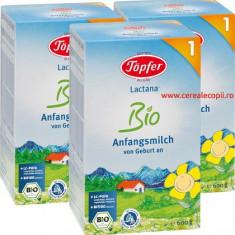 Lapte praf Topfer Bio Lactana 1, PACHET ECONOM 3 x 600g - Lapte praf bebelusi