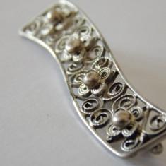 Brosa argint vintage cu filigram -1876