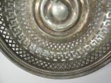 C Fructiera veche Berndorf alpaca argintata cos vechi placat cu argint Art Deco, Fructiere