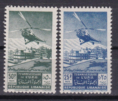 Liban 1949  elicopter  aviatie  UPU  MI 411-12 PA  MNH  w46 foto