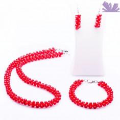 Set Chance Coral - Colier perle