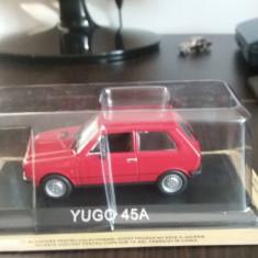 Macheta metal yugo 45a + revista masini de legenda nr.69 - Macheta auto, 1:43
