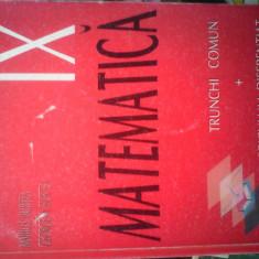 Manuale scolare de liceu - Manual scolar, Clasa 9, Matematica