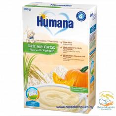 Cereale bebelusi Humana fulgi de orez cu dovleac, fara lapte, de la 6 luni - Cereale copii