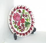 Farfurie aplica ceramica cloisonne, hand made - marcaj Clarisse Keramik Kos, Farfurii