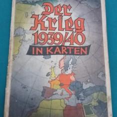 DER KRIEG 1939/40 ÎN KARTEN/ 1940 - Carte veche