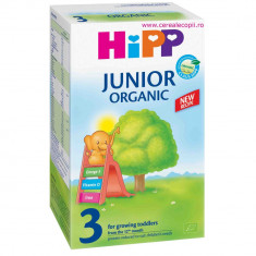 Lapte praf Hipp Organic 3 lapte de crestere, de la 1 an - Lapte praf bebelusi