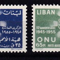 Liban 1955 ONU MI 569-70 MNH w46 - Timbre straine, Nestampilat