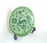 Farfurie ceramica cloisonne, hand made - Cerb - marcata Nassos Rodos Hellas