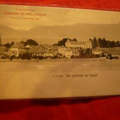 Ilustrata speciala- cu ocazia- Congres Filozofie Elvetia 1904 -Vedere gen.Copett, Necirculata, Printata