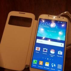 Carcasa originala Samsung S-View Cover alba pentru Samsung S4 - Husa Telefon Samsung, Samsung Galaxy S4