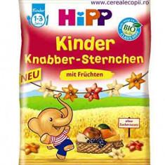 Hipp Bio snack stelute expandate din cereale cu fructe, copii peste 1 an