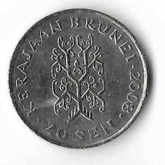 Moneda 20 sen 2008 - Brunei, Africa