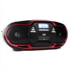 Trevi CMP - 574 Boombox CD MP3 USB casetofon AM / FM Radio Rosu - Combina audio