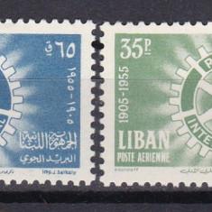 Liban 1955 Rotary MI 527-28 MNH w46 - Timbre straine, Nestampilat