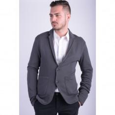 Sacou Selected Outfitters Nation Shbseb Sweat Blazer Asphalt - Sacou barbati, Marime: M, Culoare: Gri