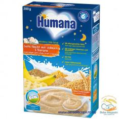 Cereale de noapte Humana cereale integrale si banane, de la 6 luni - Cereale copii