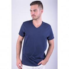 Tricou Jack&Jones Jjorwolf Tee Ss V-neck Regular Fit Peacoat - Tricou barbati, Marime: L, Culoare: Albastru