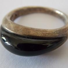 Inel de argint cu Onix vintage -1769 - Inel argint
