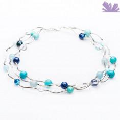 Colier Arya Bleu - Colier perle