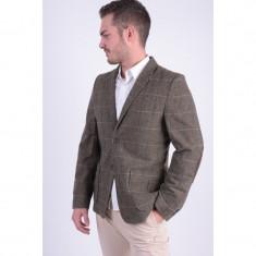 Sacou Selected London Blazer Brown / Grey - Sacou barbati, Marime: 50, Culoare: Maro