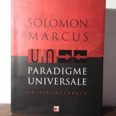 PARADIGME UNIVERSALE -SOLOMON MARCUS - Eseu