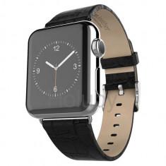Curea de piele, Hoco, Art Series, pentru Apple Watch 38 mm, black