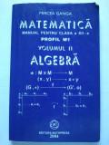 Matematică, Manual ptr. clasa XII-a, Algebra, Clasa 12, Matematica