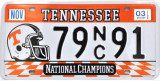 Numar de inmatriculare replica USA - Tennessee