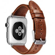 Curea pentru Apple Watch 38 mm piele iUni Vintage Brown - Curea ceas cauciuc