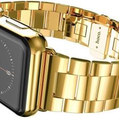 Curea metalica, Hoco, Grand Series, pentru Apple Watch 42 mm, gold - Curea ceas din metal