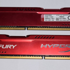 Memorie HyperX FURY Red 8GB DDR3 1866MHz BONUS 2 CADOURI VALOARE 100RON - Memorie RAM Kingston, 1600 mhz, Dual channel