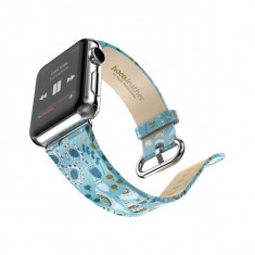 Curea de piele, Hoco, Lucida Series, pentru Apple Watch 38 si 42 mm, Fairy Tale