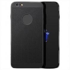Husa iPhone 5 5S SE Perforata Neagra - Husa Telefon Apple, Negru, Plastic, Fara snur, Carcasa