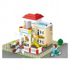 Jucarie constructii tip lego Casa de vacanta 380 pcs Natalia Club - Set de constructie