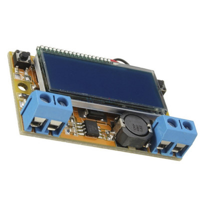 DC-DC converter step down, IN: 5-23V, OUT: 0-16,5V (3A) display ( DC372) foto